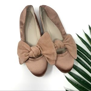 Kenneth Cole Pink Bow Ballet Flats sz 9